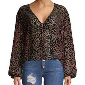 FP Leopard blouse*S/M*(c below)